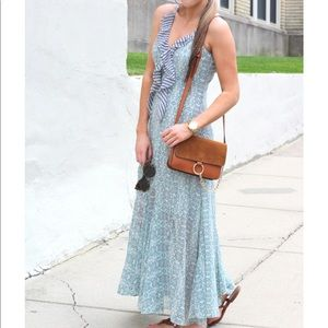 Cabi Garden Party Floral Ruffle Maxi Dress